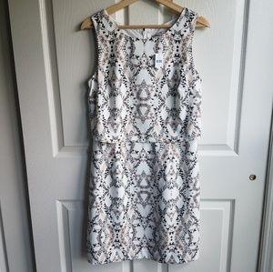 NWT Banana Republic Ivory Layered Dress Size 8